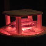 particolare di un settore del forno raku alla temperatura di 920°C